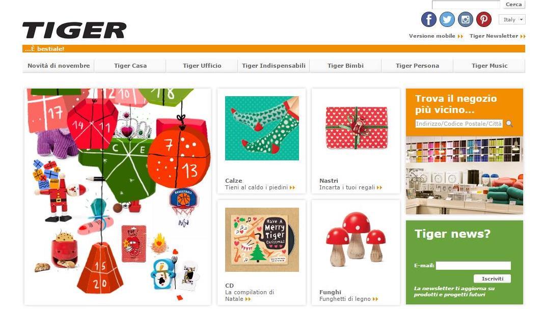 Tiger store sito web arduino elettronica design 0lab for Design sito
