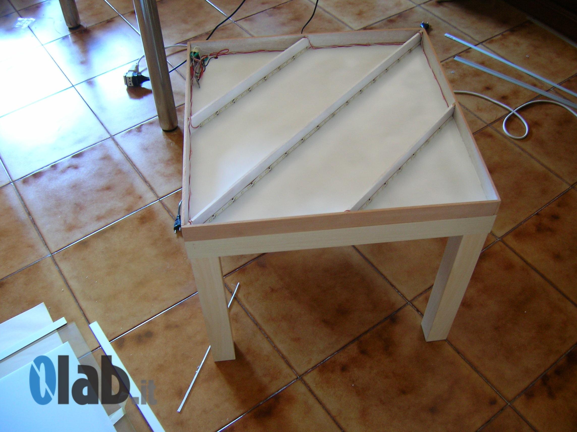 Tavolino Che Diventa Tavolo Ikea ikea hack - lack a programmable led table || 0lab.itarduino