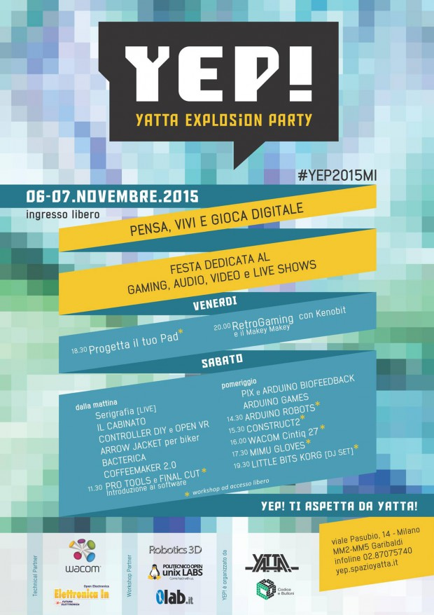 Yep! Festa del gioco digitale 2015 con =lab.it